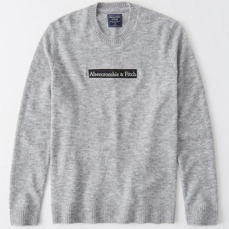 【SALE】 大きいサイズ メンズ アバクロ Abercrombie&Fitch ニット セーター クルーネック XXL