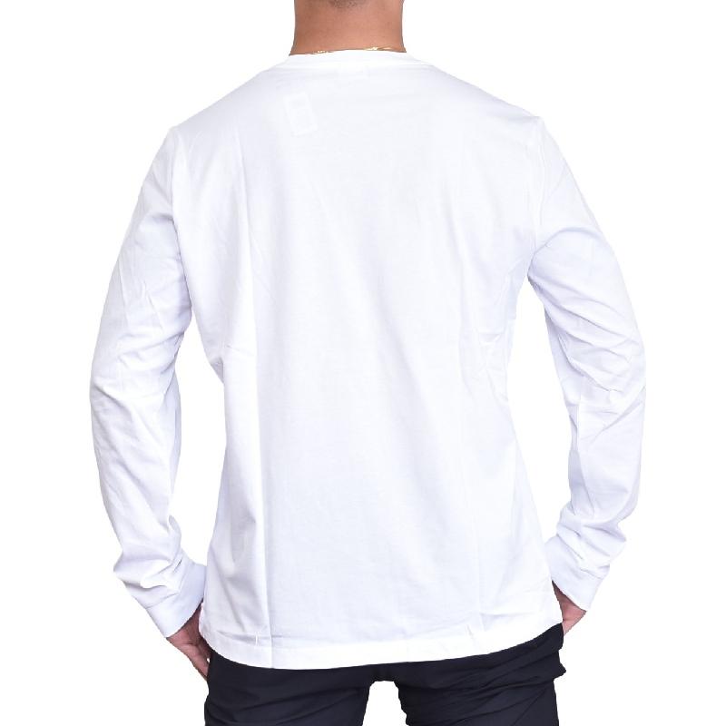大きいサイズ メンズ ディーゼル Diesel ロンT 長袖Tシャツ T-DIEGO-LONG-B-R MAGLIETTA 黒 白 XXL XXXL