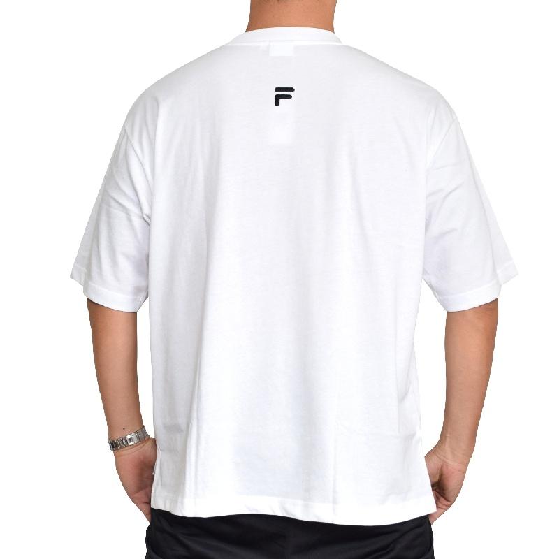 【SALE】 大きいサイズ メンズ FILA HERITAGE フィラ ヘリテージライン Tシャツ 半袖  クルーネック 黒 白 ブラック ホワイト XL XXL 【メール便対応】 [M便 1/1]