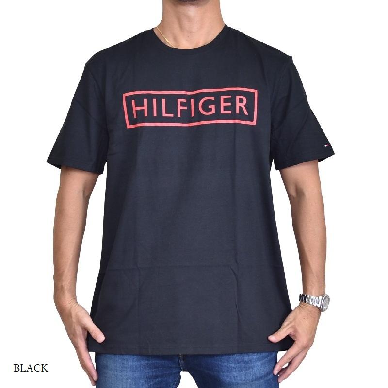 大きいサイズメンズ TOMMY HILFIGER トミーヒルフィガー 半袖Tシャツ クルーネック ロゴプリント 白 ホワイト 黒 ブラック ネイビー XL XXL 【メール便対応】 [M便 1/1]