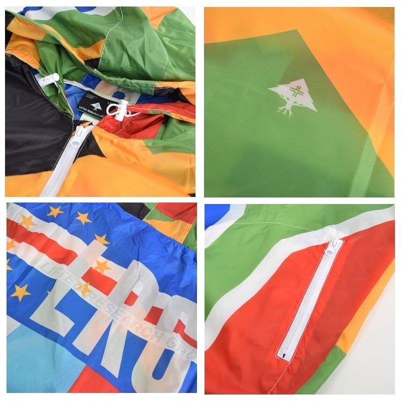 【SALE】 大きいサイズ メンズ LRG エルアールジー ウインドブレイカー ジャケット アウター ブルゾン 薄手 UNITED NATIONS XXL XXXL XXXXL
