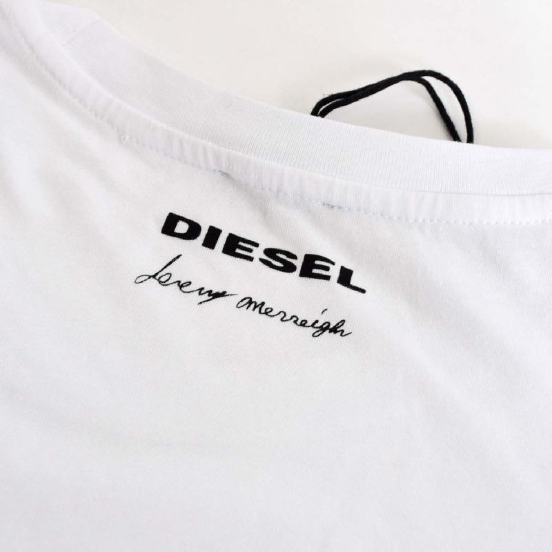 【SALE】 大きいサイズ メンズ ディーゼル Diesel クルーネック Tシャツ T-JOE-HA ホワイト 白 XXL XXXL 【メール便対応】 [M便 1/1]