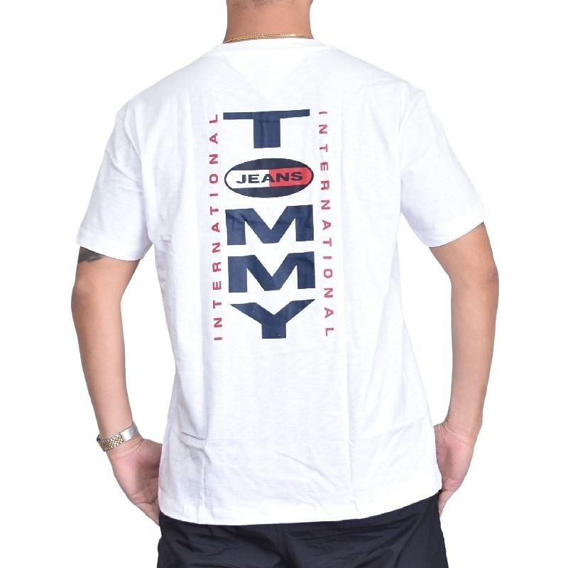 【SALE】 大きいサイズメンズ トミーヒルフィガージーンズ TOMMY HILFIGER JEANS クルーネック 半袖Tシャツ 白 紺 XL XXL 【メール便対応】 [M便 1/1]