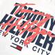 大きいサイズメンズ TOMMY HILFIGER DENIM トミーヒルフィガーデニム 半袖Tシャツ クルーネック ロゴプリント 白 ホワイト XL XXL 【メール便対応】 [M便 1/1]