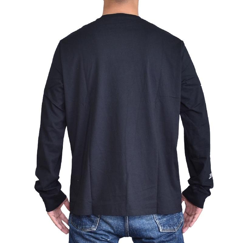 大きいサイズ メンズ ディーゼル Diesel ロンT 長袖Tシャツ T-DIEGO-LONG-LS-J1 黒 ブラック 白 ホワイト XXL XXXL [M便 1/1] [DSL-069-F]