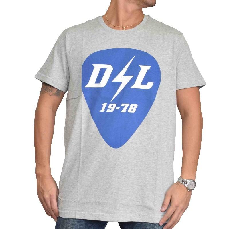 大きいサイズ メンズ ディーゼル Diesel クルーネック Tシャツ T-DIEGO-RB 黒 ブラック グレー XXL XXXL 【メール便対応】 [M便 1/1]
