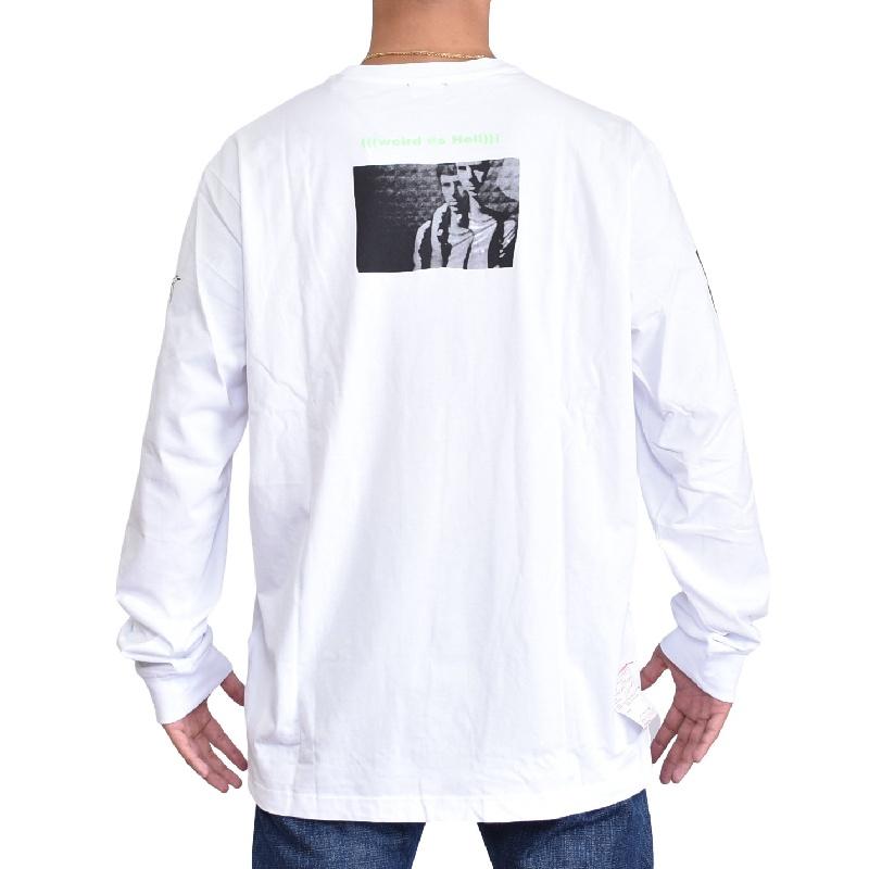 大きいサイズ メンズ ディーゼル Diesel ロンT 長袖Tシャツ T-JUSTLY 白 ホワイト XXL XXXL 【メール便対応】 [M便 1/1]
