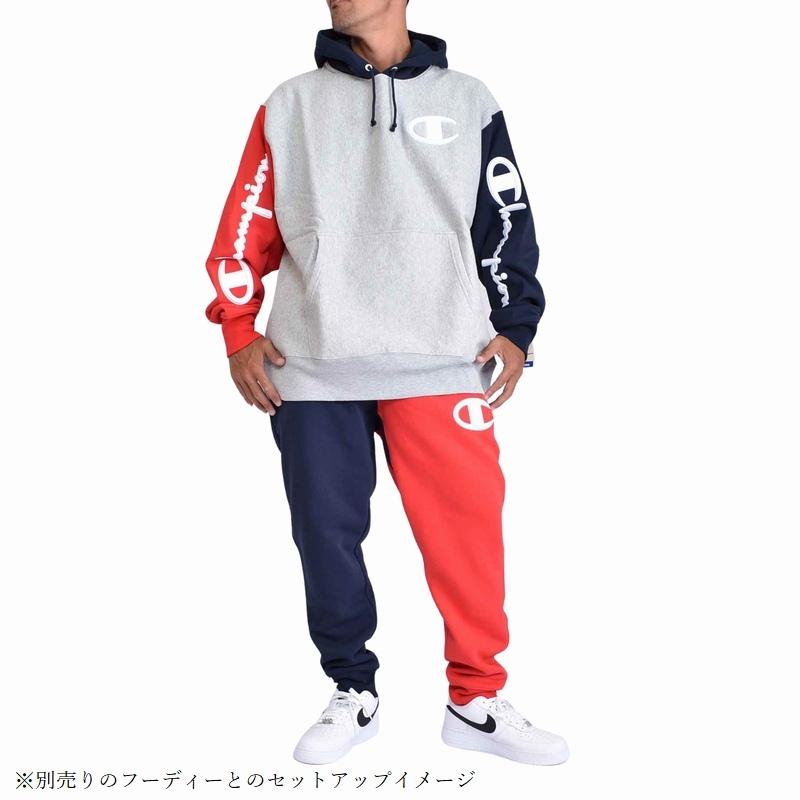 大きいサイズ メンズ チャンピオン Champion スウェットパンツ ジョガー REVERSE COLORBLOCK JOGGER USAモデル XL XXL XXXL