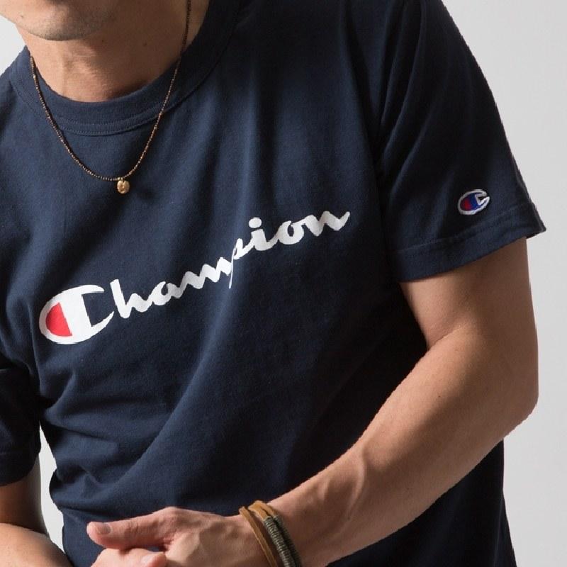 大きいサイズメンズ チャンピオン Champion 半袖Tシャツ ロゴ ベーシック アメカジ 3L 4L 5L 【メール便対応】 [M便 1/1]