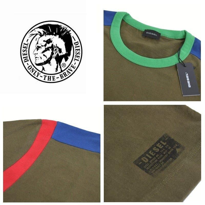 大きいサイズ メンズ ディーゼル Diesel クルーネック Tシャツ T-BRANDO XXL XXXL 【メール便対応】 [M便 1/1]