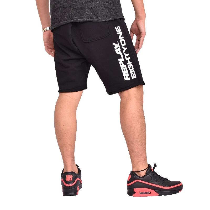 大きいサイズ メンズ REPLAY リプレイ スウェット ショーツ ハーフパンツ 黒 ブラック ネイビー 赤 グレー XXL XXXL