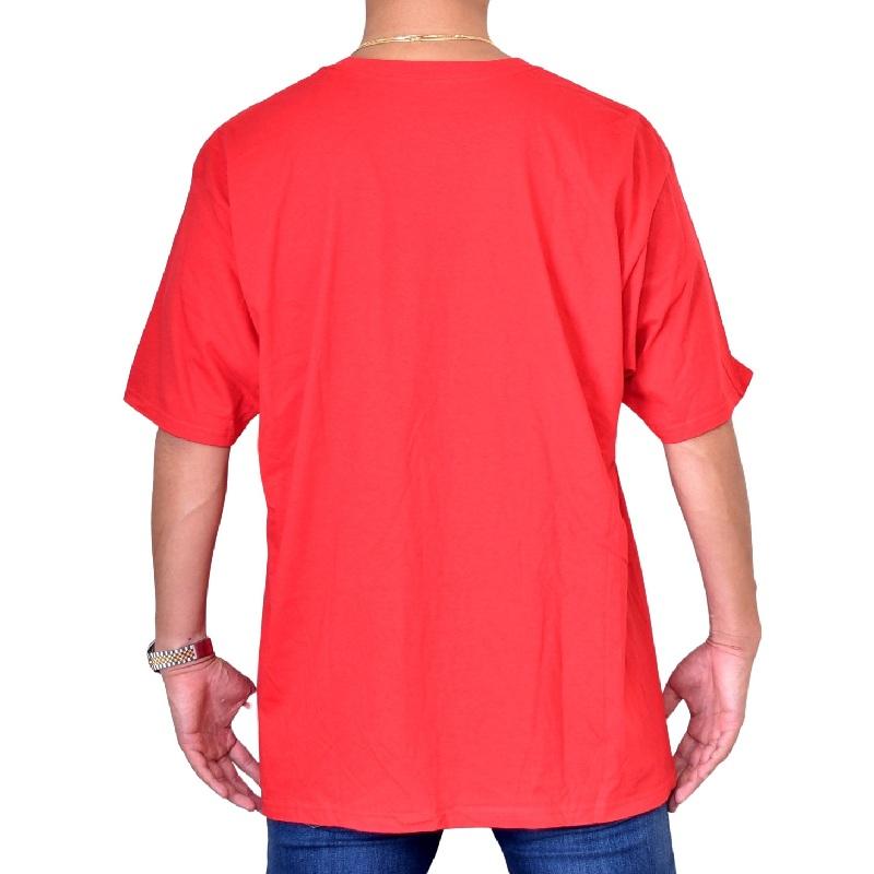 大きいサイズ メンズ adidas アディダス 半袖Tシャツ ロゴプリント 赤 レッド XXL 6XO 【メール便対応】 [M便 1/1]