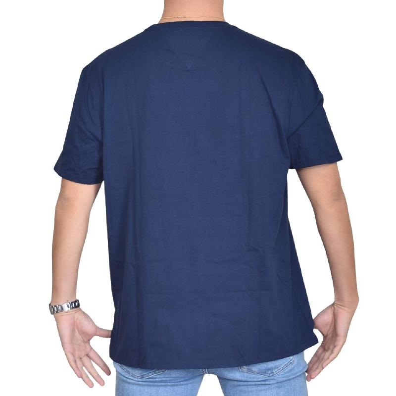 大きいサイズメンズ TOMMY HILFIGER JEANS トミーヒルフィガージーンズ 半袖Tシャツ クルーネック ロゴプリント 白 ホワイト ネイビー XL XXL 【メール便対応】 [M便 1/1]