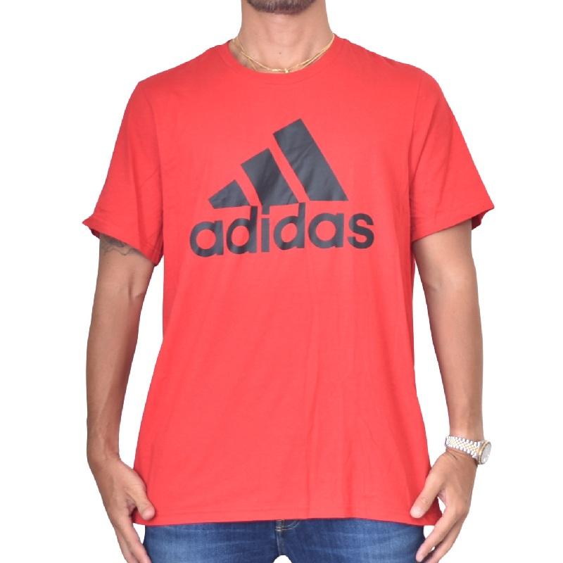 大きいサイズ メンズ adidas アディダス 半袖Tシャツ ロゴプリント 白 ホワイト レッド 赤 XL XXL 4XO 6XO 【メール便対応】 [M便 1/1]