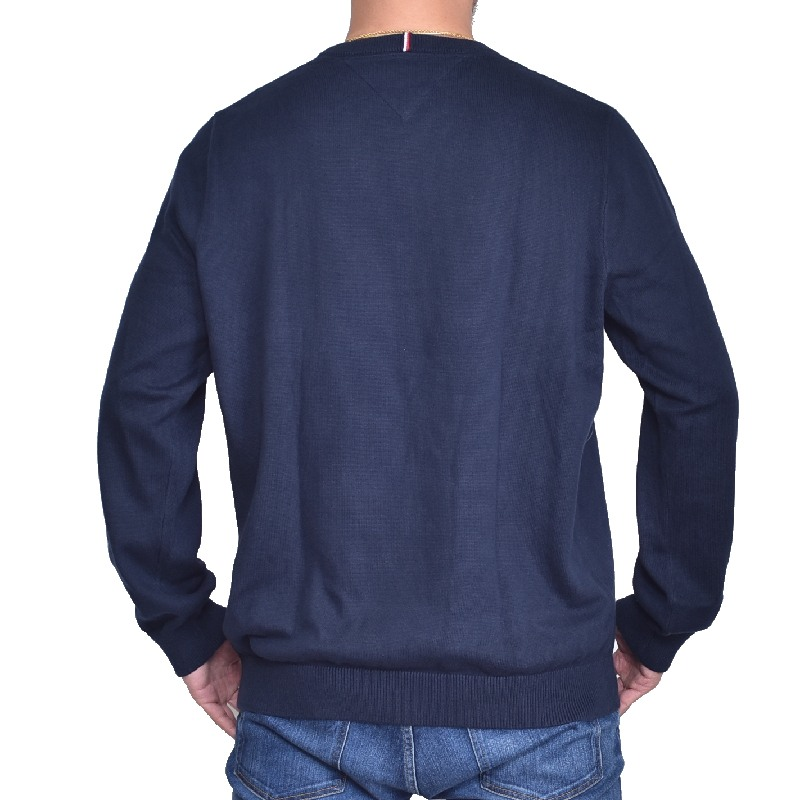 【SALE】 大きいサイズメンズ トミーヒルフィガー クルーネック セーター ニット コットン 長袖 TOMMY HILFIGER XL XXL