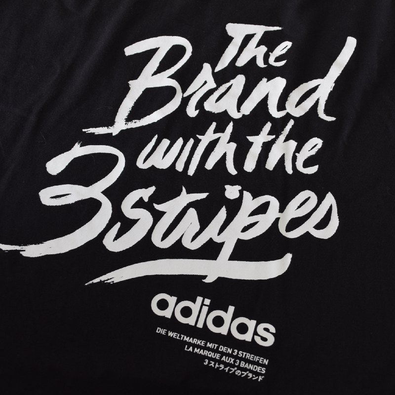 大きいサイズ メンズ adidas アディダス 半袖Tシャツ ロゴプリント 黒 ブラック XXL 6XO 【メール便対応】 [M便 1/1]