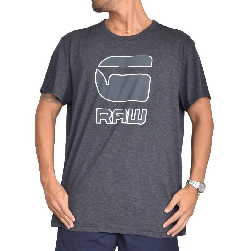 大きいサイズ メンズ G-STAR RAW ジースターロゥ クルーネック ロゴプリント 半袖Tシャツ XL XXL 【メール便対応】 [M便 1/1]