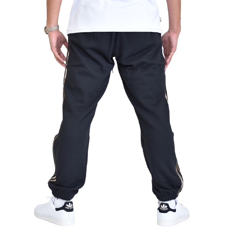 大きいサイズ メンズ adidas アディダス オリジナルス 迷彩 カモフラ 3本ラインスウェットパンツ 裏毛 黒 ブラック L XL XXL 2XO 4XO 6XO