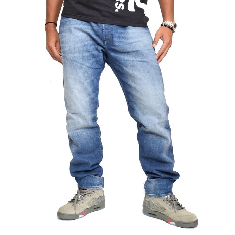 【SALE】 大きいサイズ メンズ ディーゼル Diesel デニムパンツ ジーンズ レギュラー スリム テーパード 0831D STRETCH 38 40インチ