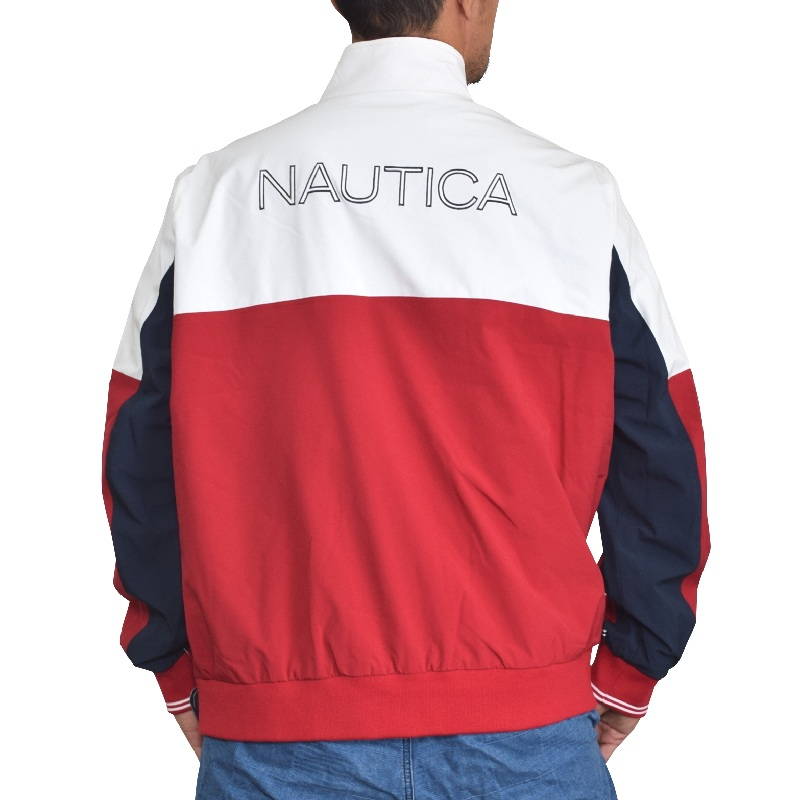 【SALE】 大きいサイズ メンズ NAUTICA ノーティカ ノーチカ トラックジャケット ウインドブレイカー アウター ブルゾン XL XXL