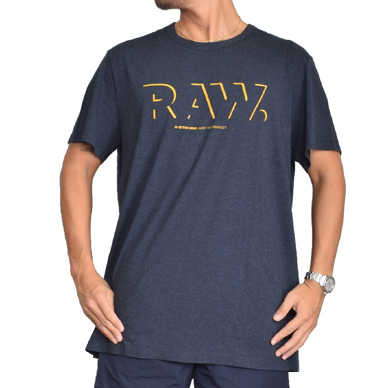 【SALE】 大きいサイズ メンズ G-STAR RAW ジースターロゥ クルーネック ロゴプリント 半袖Tシャツ XL XXL 【メール便対応】 [M便 1/1]
