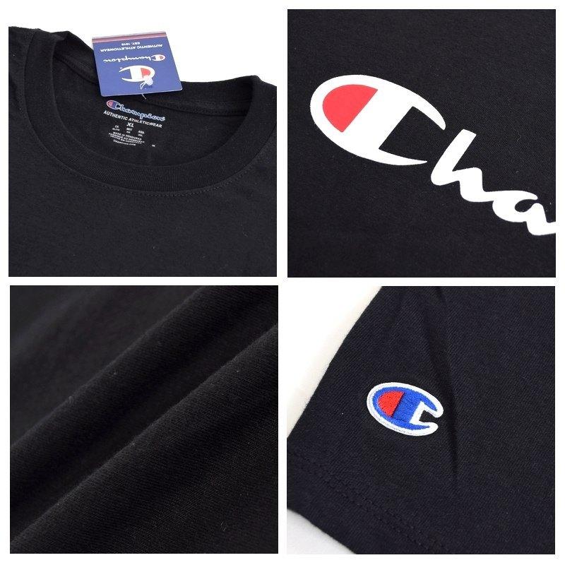 大きいサイズメンズ チャンピオン Champion 半袖Tシャツ SCRIPT SS TEE ロゴ アメカジ USAモデル XL XXL 【メール便対応】 [M便 1/1]