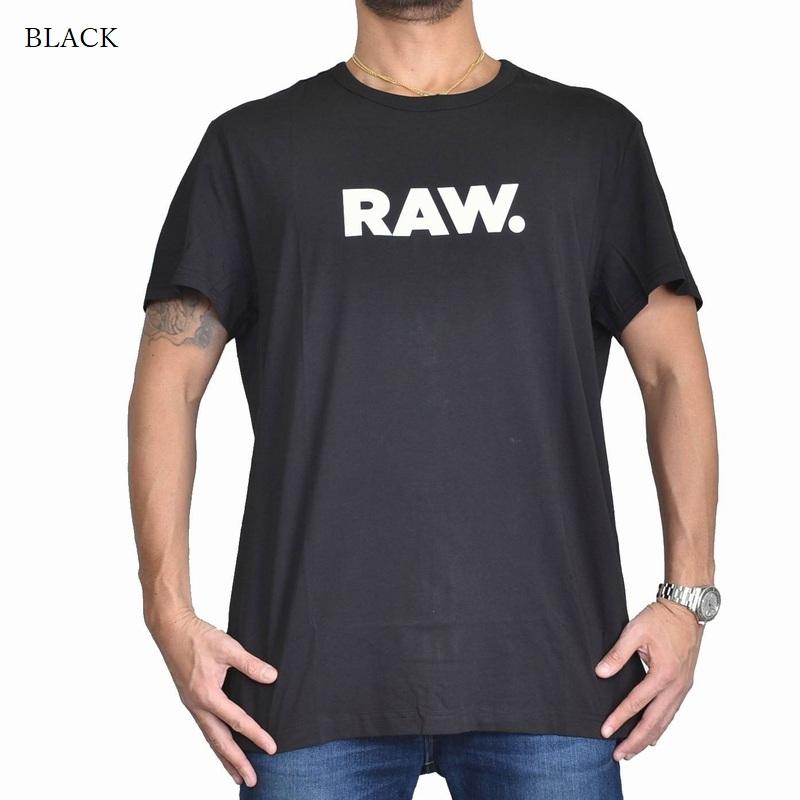 大きいサイズ メンズ G-STAR RAW ジースターロゥ クルーネック ロゴプリント 半袖Tシャツ 黒 白 XL XXL 【メール便対応】 [M便 1/1]
