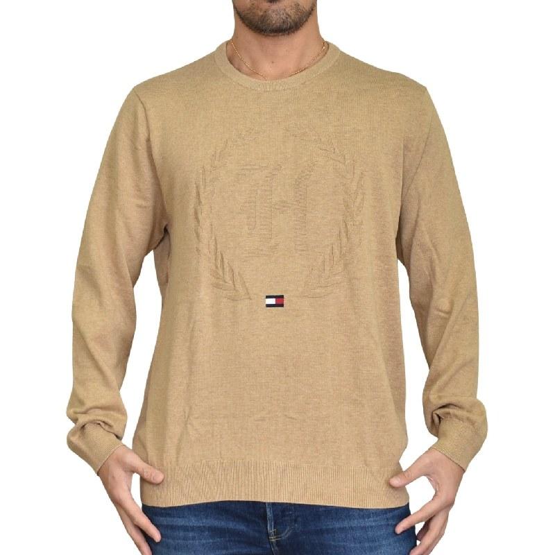 大きいサイズメンズ TOMMY HILFIGER トミーヒルフィガー クルーネック セーター ニット コットン 長袖 フラッグ エンブレム刺繍 XL XXL XXXL