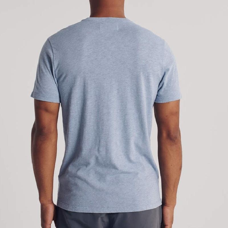 大きいサイズ メンズ アバクロ Abercrombie&Fitch  ロゴ刺繍 ヘンリーネック 半袖Tシャツ ワンポイント XXL 【メール便対応】 [M便 1/1]