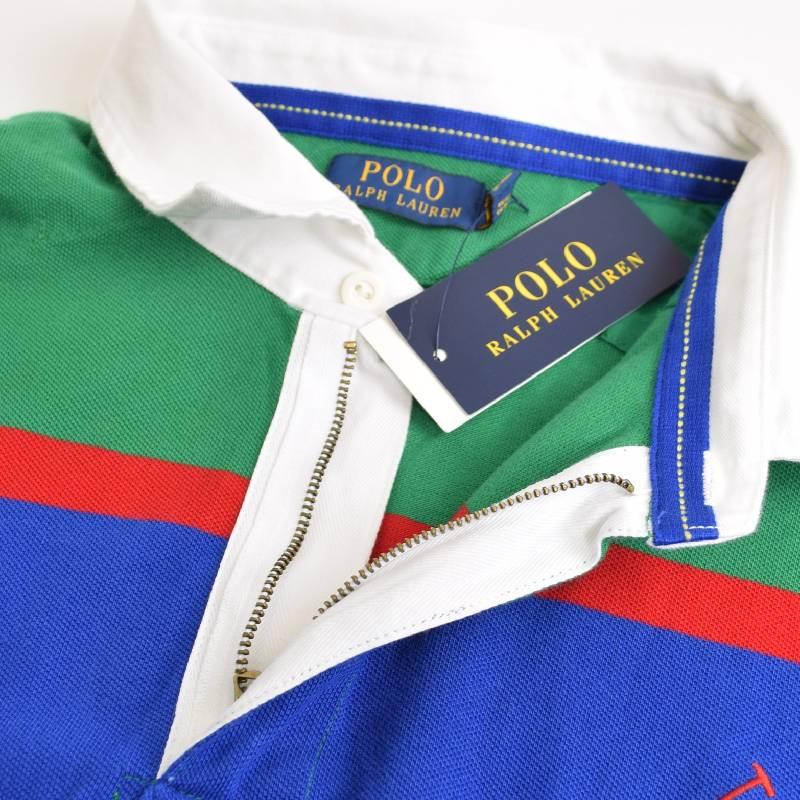 大きいサイズ メンズ ポロラルフローレン POLO RALPH LAUREN 長袖ポロシャツ ラガーシャツ ボーダー ビッグポニー XL XXL