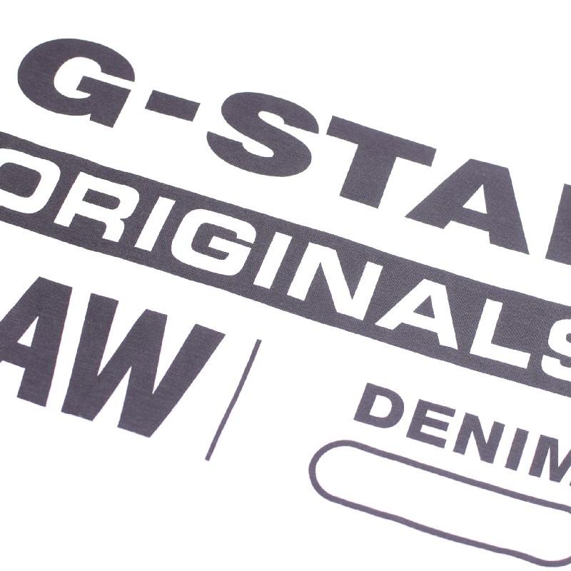 大きいサイズ メンズ G-STAR RAW ジースターロゥ クルーネック ロゴプリント 半袖Tシャツ 黒 白 ネイビー XL XXL 【メール便対応】 [M便 1/1]