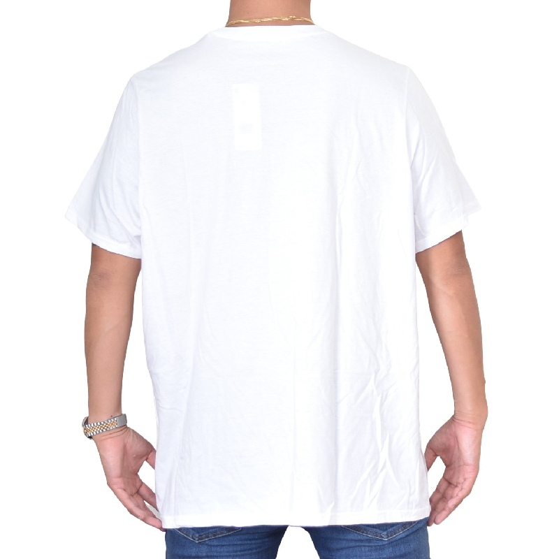大きいサイズ メンズ adidas アディダス 半袖Tシャツ ロゴプリント 白 ホワイト XXL 6XO 【メール便対応】 [M便 1/1]