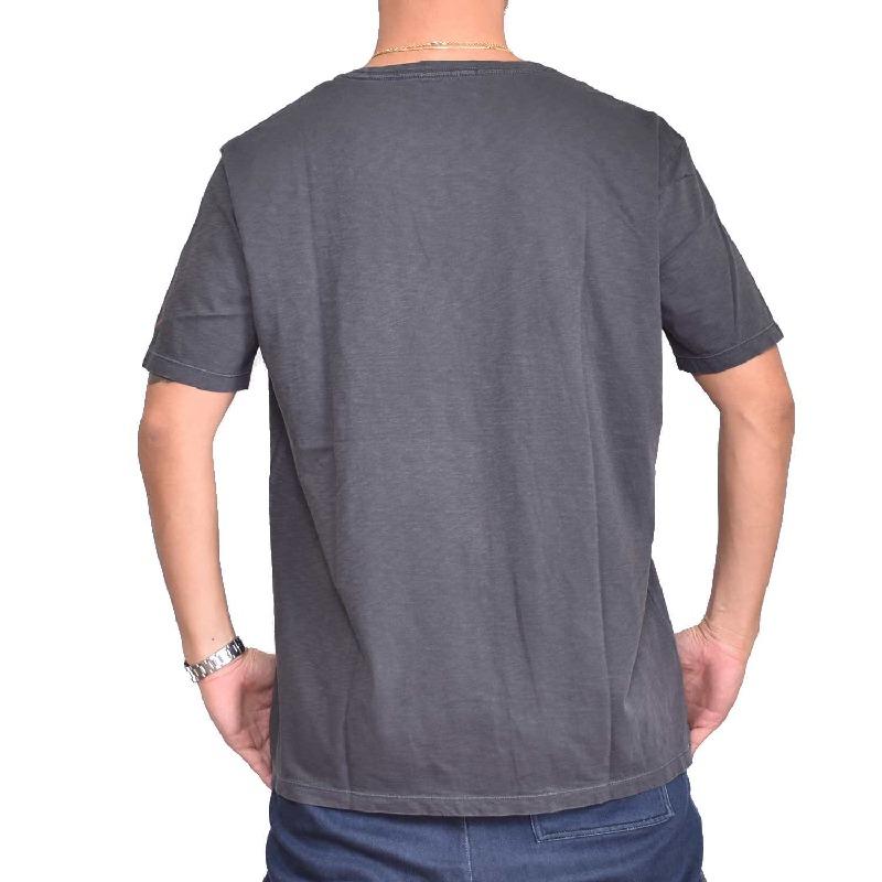 大きいサイズ メンズ REPLAY リプレイ 半袖Tシャツ ロゴプリント チャコールブラック 白 ホワイト 【メール便対応】 [M便 1/1] XXL XXXL