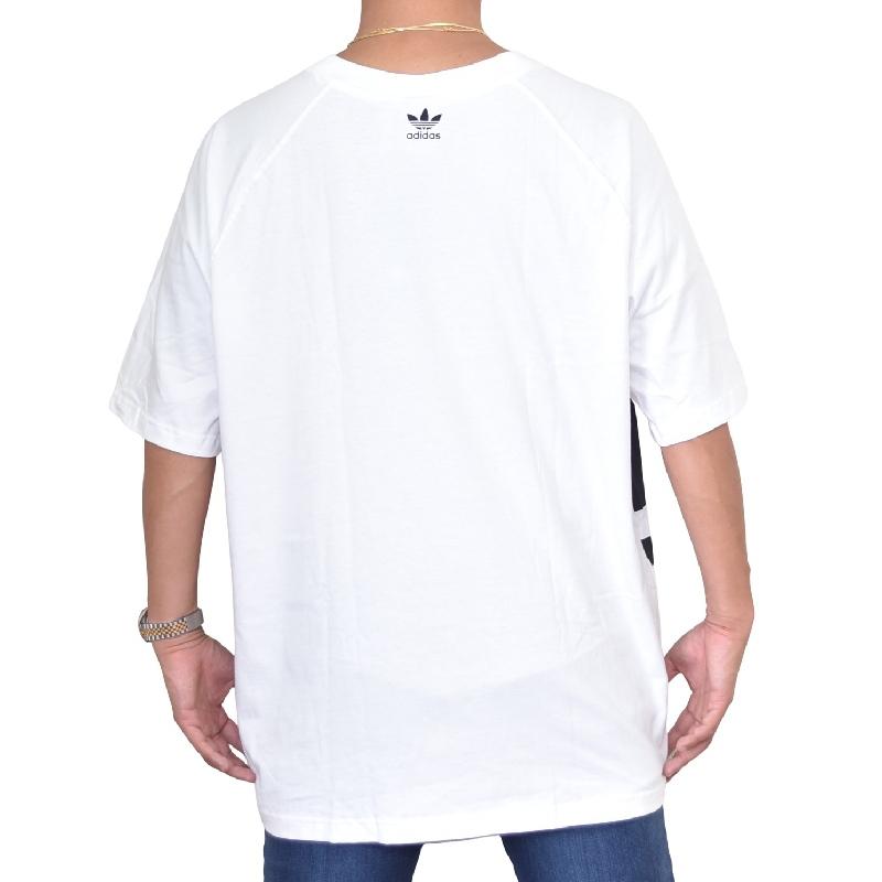 大きいサイズ メンズ adidas アディダス オリジナル originals 半袖Tシャツ ロゴプリント 白 ホワイト BIG TREFOIL BOXY TEE XL 4XO 【メール便対応】 [M便 1/1]