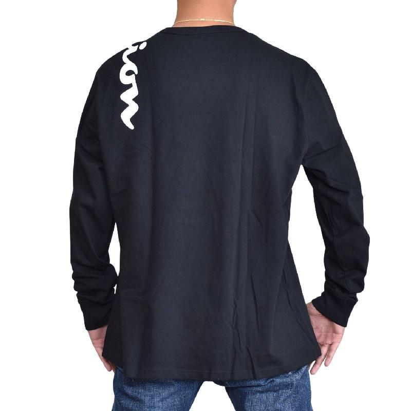 大きいサイズメンズ チャンピオン Champion 長袖Tシャツ ロンT ビッグロゴ アーム ヘリテージ アメカジ USAモデル XL XXL XXXL 黒 白