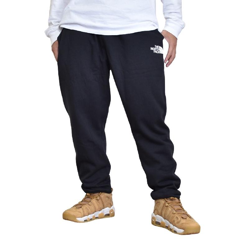 大きいサイズ メンズ ノースフェイス THE NORTH FACE ロゴ スウェットパンツ ジョガー 裏起毛 LOGO JOGGER 黒 ブラック USAモデル XL XXL