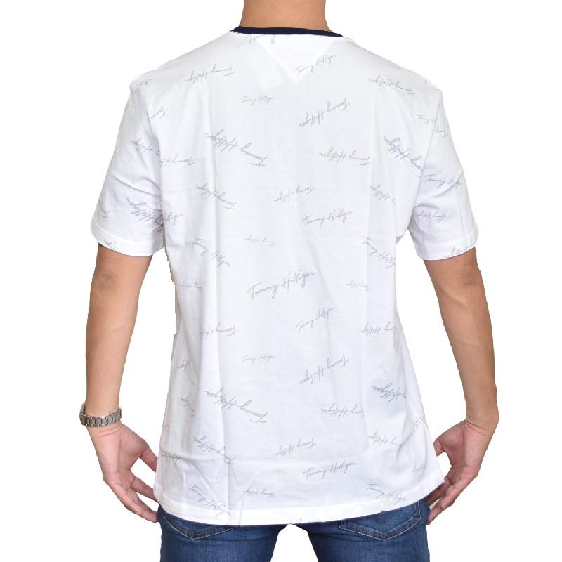 大きいサイズメンズ TOMMY HILFIGER トミーヒルフィガー ロゴ刺繍 半袖Tシャツ 白 ネイビー TINO XL XXL XXXL 【メール便対応】 [M便 1/1]