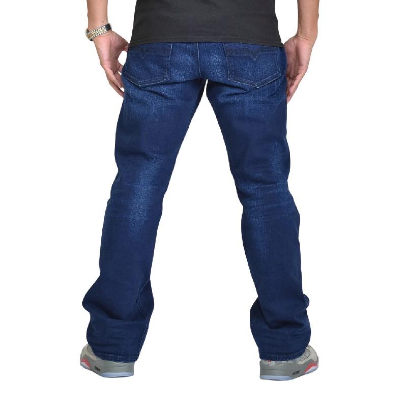 大きいサイズ メンズ DIESEL ディーゼル デニムパンツ ジーンズ レギュラー ブーツカット ZATINY 084HJ STRETCH 38インチ
