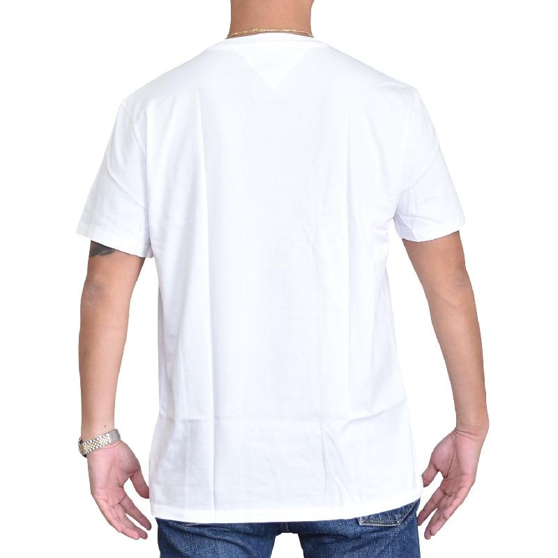 大きいサイズメンズ トミーヒルフィガージーンズ TOMMY HILFIGER JEANS クルーネック 半袖Tシャツ ロゴ刺繍 ホワイト 白 黒 ブラック XL XXL 【メール便対応】 [M便 1/1]