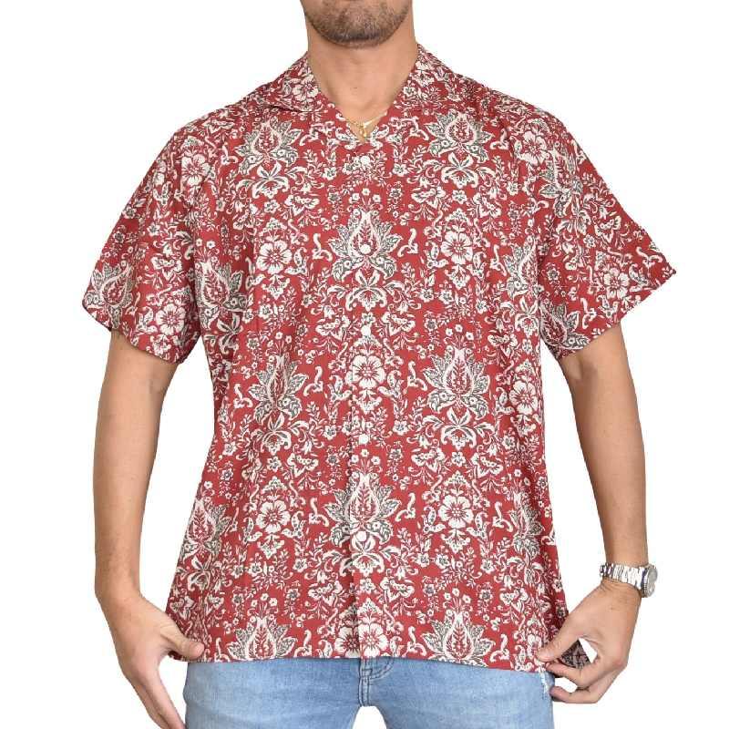 大きいサイズ メンズ Abercrombie&Fitch アバクロンビー&フィッチ 半袖キャンプカラー ボタンアップシャツ XXL 【メール便対応】 [M便 1/1]