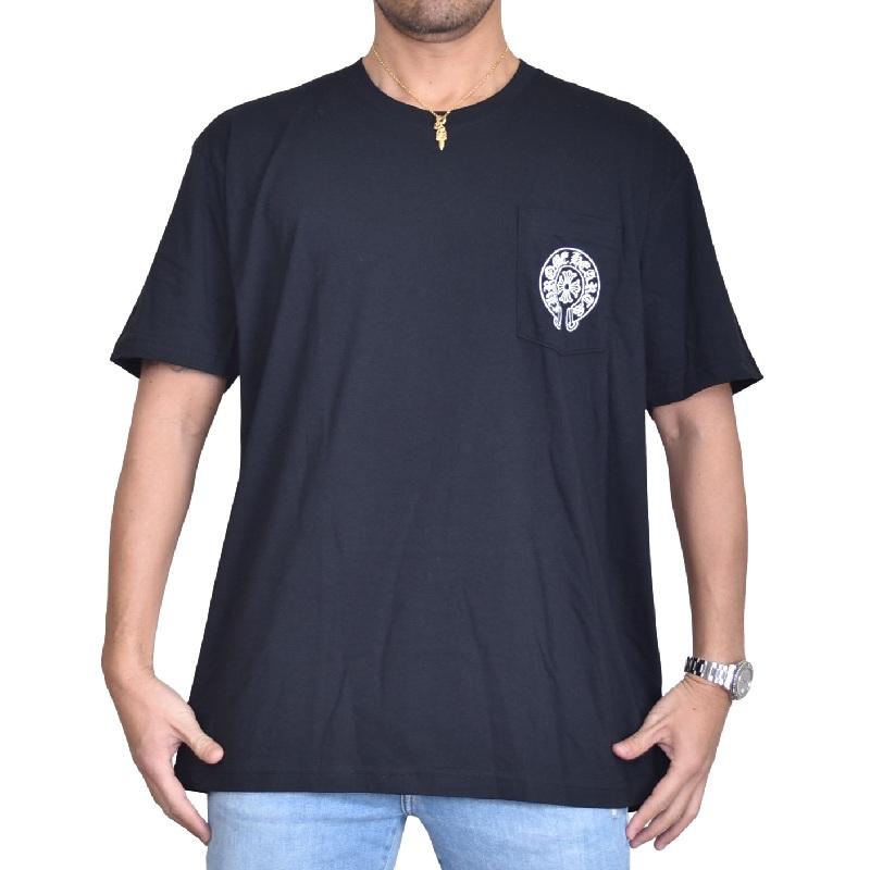 大きいサイズ メンズ CHROME HEARTS クロムハーツ 半袖 Tシャツ 黒 ブラック ラスベガス限定 Las Vegas XXL