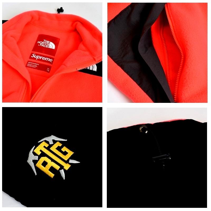 大きいサイズ メンズ Supreme シュプリーム ノースフェイス Supreme The North Face RTG Fleece Jacket Bright Red フリースジャケット XL