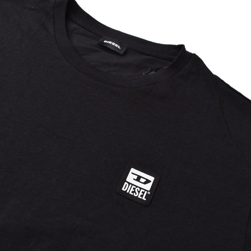 大きいサイズ メンズ ディーゼル Diesel 半袖 クルーネック Tシャツ T-DIEGOS-K30 黒 XXL XXXL 【メール便対応】 [M便 1/1]