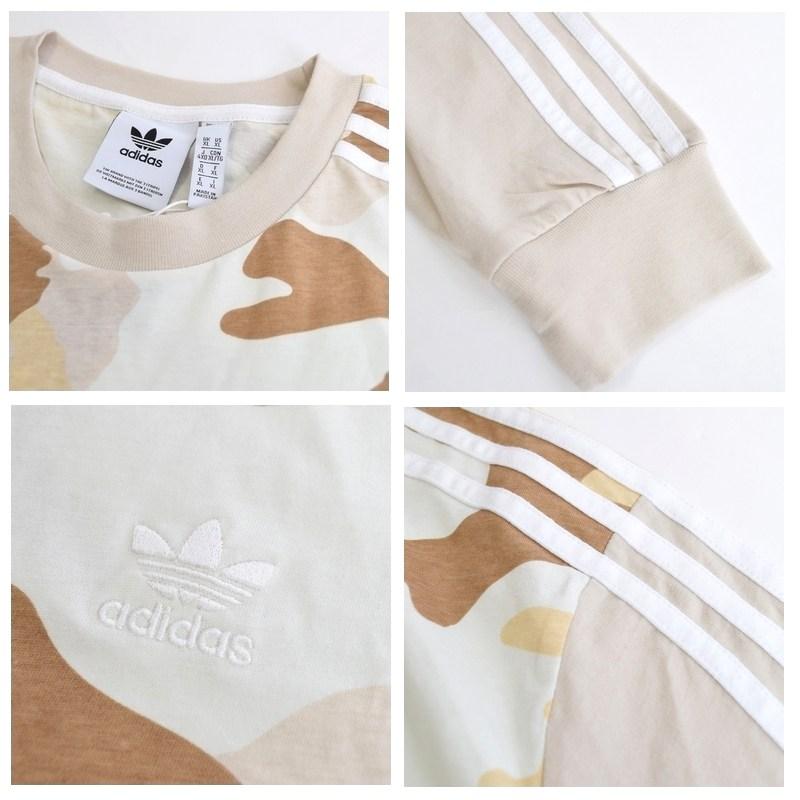 【SALE】 大きいサイズ メンズ adidas アディダス オリジナル originals 長袖Tシャツ 迷彩 カモフラ 三本ライン 海外モデル XL XXL 2XO 4XO 6XO