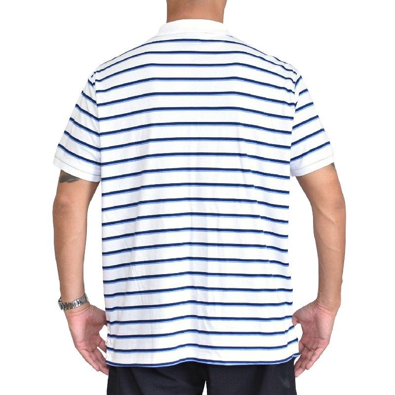 大きいサイズ メンズ ポロラルフローレン POLO RALPH LAUREN ボーダー ワンポイント 半袖ポロシャツ custom slim fit XL XXL