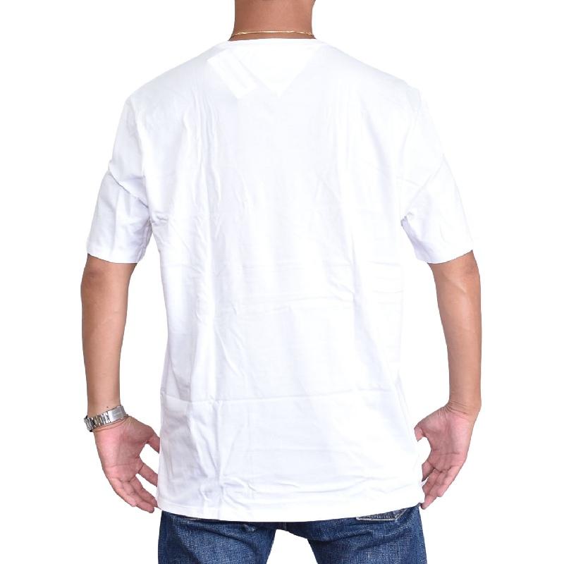 大きいサイズメンズ TOMMY HILFIGER SPORT トミーヒルフィガースポーツ 半袖Tシャツ クルーネック 白 ホワイト 赤 レッド XL XXL 【メール便対応】 [M便 1/1]
