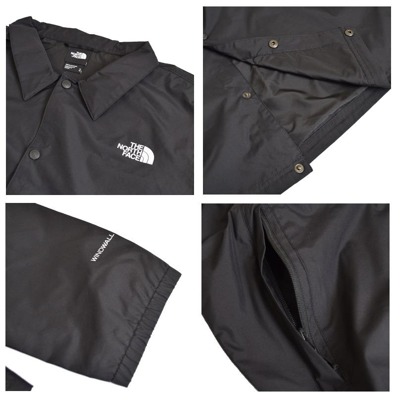 大きいサイズ メンズ ノースフェイス THE NORTH FACE コーチジャケット ウインドブレイカーアウター 黒 ブラック WALLS COACHES JACKET XL XXL