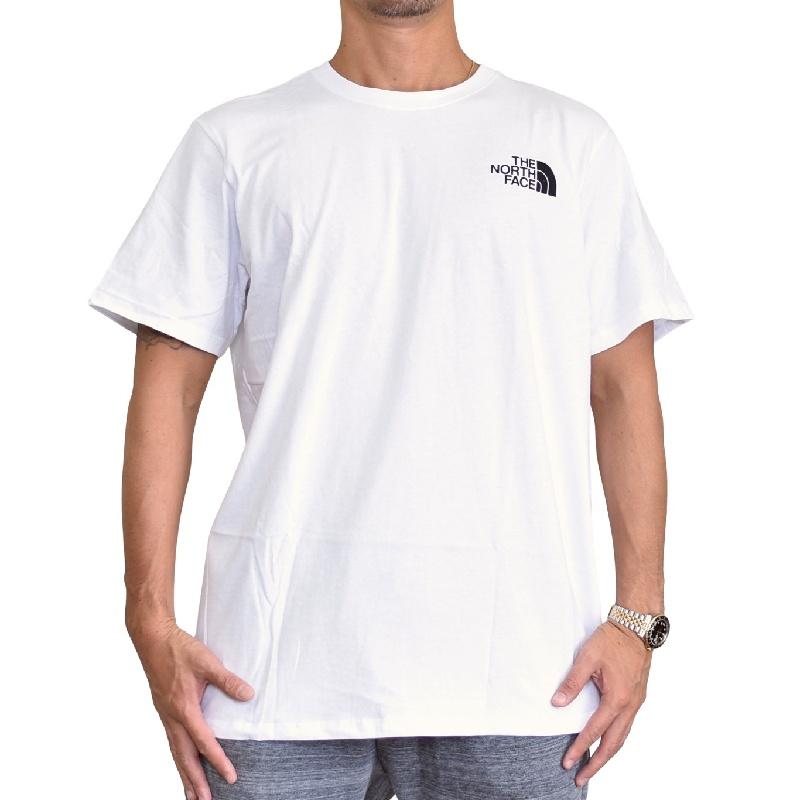 大きいサイズ メンズ ノースフェイス 半袖 Tシャツ ロゴプリント USAモデル ホワイト 白 XL XXL THE NORTH FACE 【メール便対応】 [M便 1/1]
