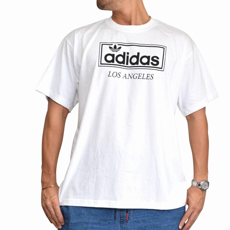 大きいサイズ メンズ adidas アディダス オリジナル originals 半袖Tシャツ LA LOS ANGELES TEE ロゴプリント 海外モデル 白 ホワイト XL XXL 4XO 6XO 【メール便対応】 [M便 1/1]