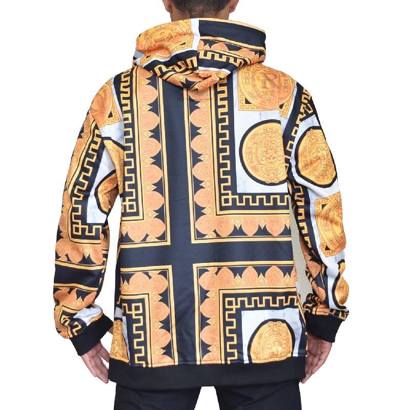 【SALE】 大きいサイズ メンズ REASON CLOTHING リーズンクロージング GOLD MARBLE HOODIE パーカー プルオーバー XXL XXXL